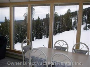Here you Can Dine from your Perch over the Perfection Ski Run