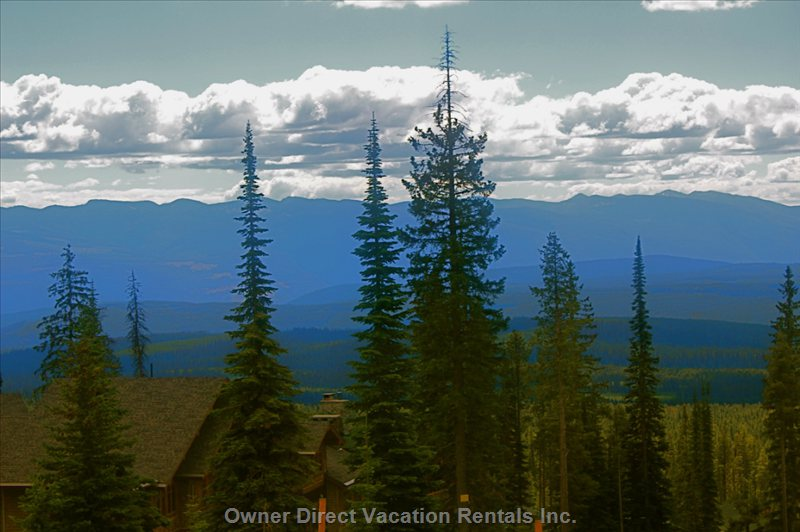 Summertime View of the Horizon and Monashee Mountains from the Livingroom Window.