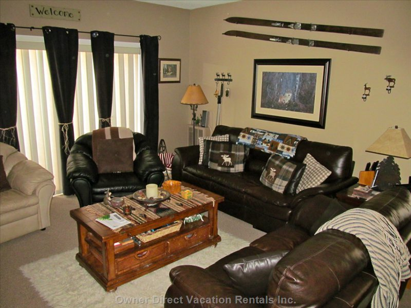 This Living Room is a Fantastic Gathering Area for Family and Friends!