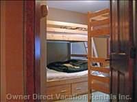 Third Bedroom - Bunk Beds - Single over Single and Double under Single