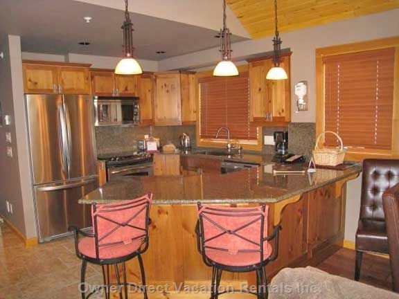 Kitchen New Stainless Steel Appl'S & Wine Fridge & Dw