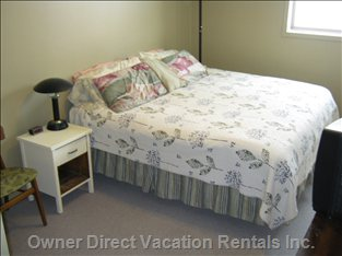 King Bed in Master - Generous Sized Master Bedroom has King Bed and TV/VCR Combo.