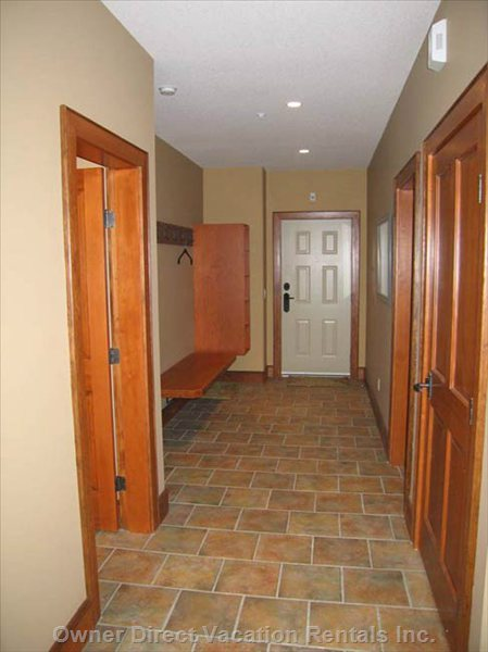 Large Entry with Heated Floors