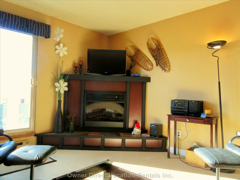 Smartly Decorated, Warm Living Area