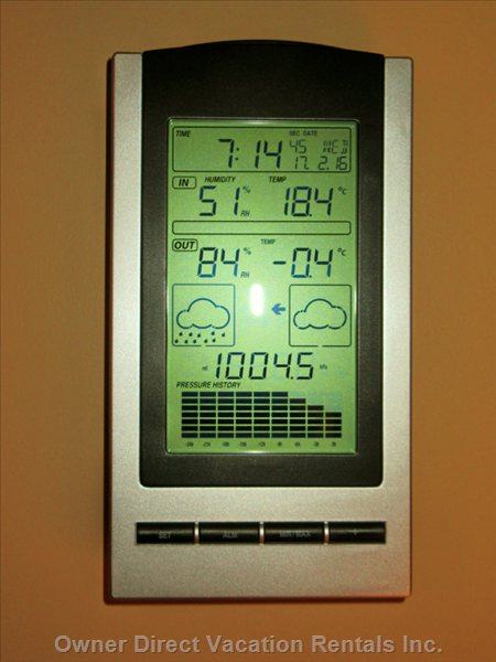Weather Station - Great for Making that Informed Decision on what Thermals to Wear!