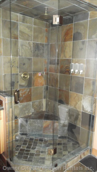 Shower Ensuite - Steam Shower in Master Bath.