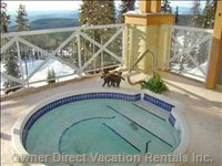 One of Two Shared Hot Tubs Overlooking the Hummingbird Run / Plaza Chair