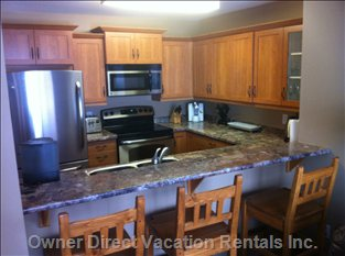 Well Equipped Kitchen with Brand New Appliances and Cabinets
