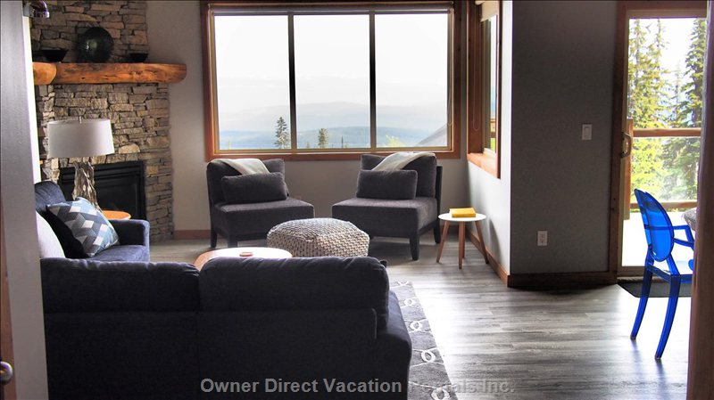 Tons of Natural Light with Southern Exposure and Endless Mountain Views!