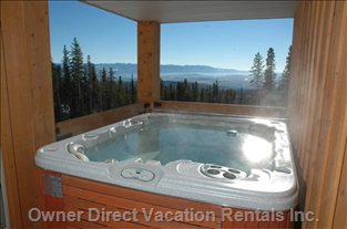 Steaming Hot Tub Offers the Ultimate Views &Privacy you Want