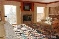 Master Bedroom W/ Great View .cozy Sitting by the Fireplace.