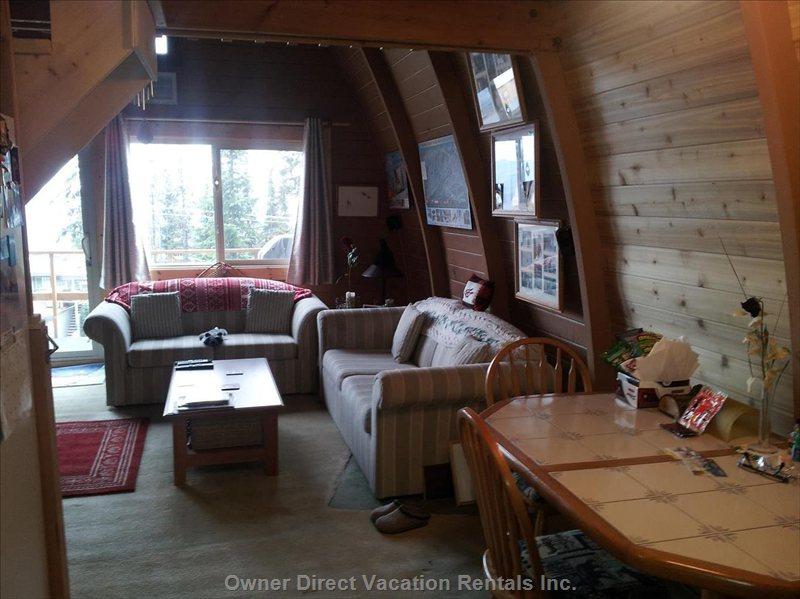 Living Area with View to Monashee
