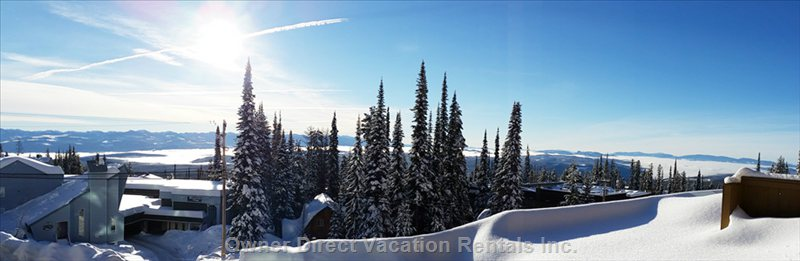 Bright Sunny South-East Exposure to the Monashee Mountains