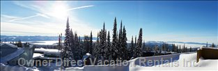 Bright Sunny Southern View of the Monashee Mountains