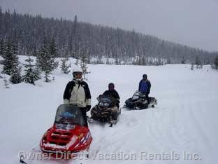 Snowmobiling around the Big White Area