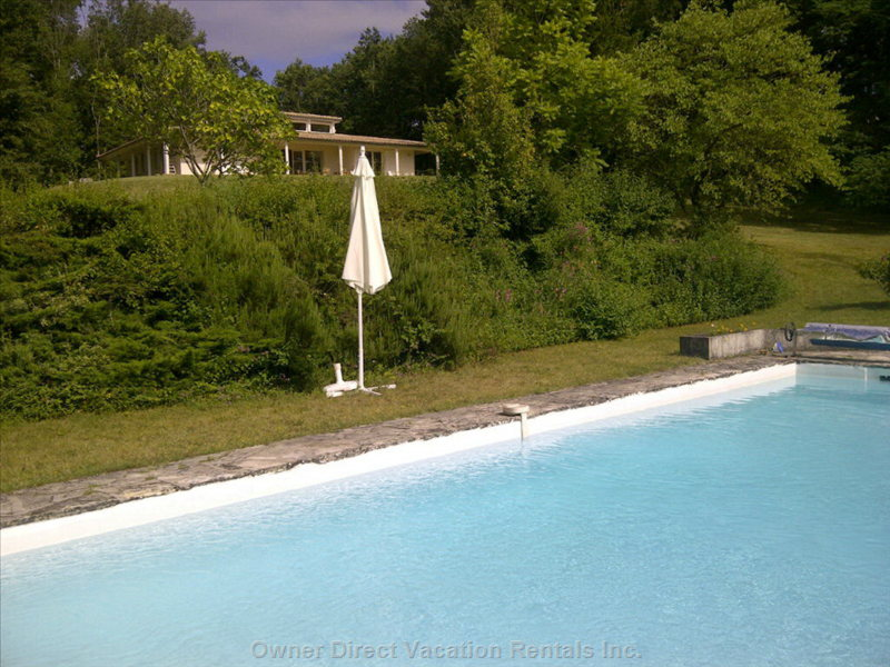 View the House from the Swimming Pool (Available during Summer Months)