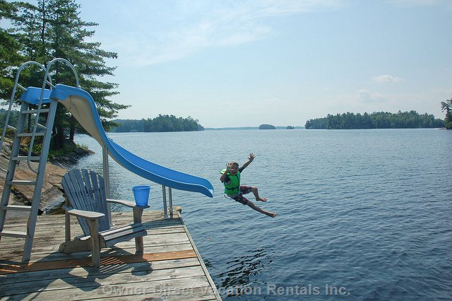 Have Fun on the Water Slide Located off the Dock 50 Meters from your Front Door!!