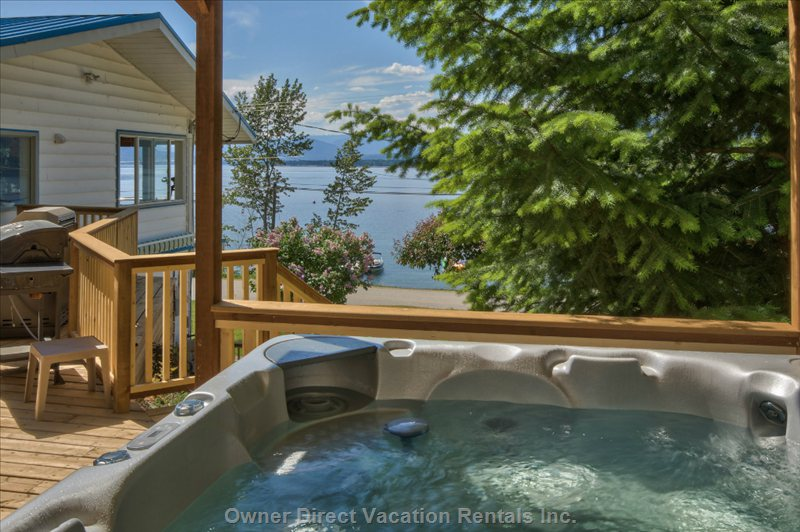 Enjoy the Sensational Lake Views from the Private Hot Tub