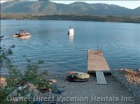 The Beach with Large Dock/Fire-pit/Picnic Table/Buoy
