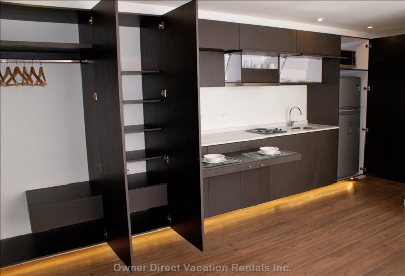 Closet and Kitchen