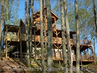 Spacious Deck Areas - Take Full Advantage of 1,300 Sq. Ft. Multi-level of Decks. Nature is yours to Watch and Listen.