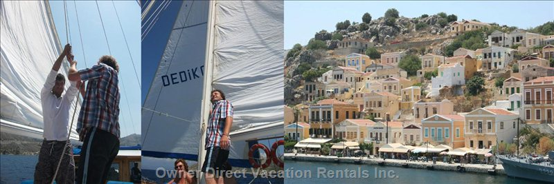 Gulet Boat  - Sailing for Symi Greek Island near the Turkish Coast