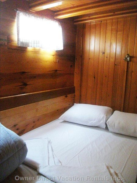 Comfortable Wooden Cabins with Double Beds