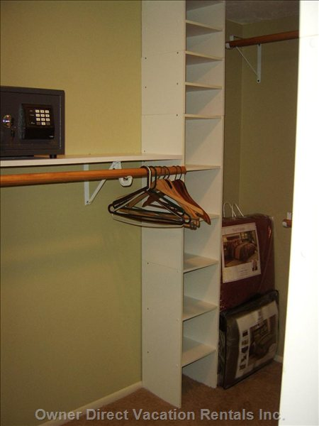 Master Closet with Safe
