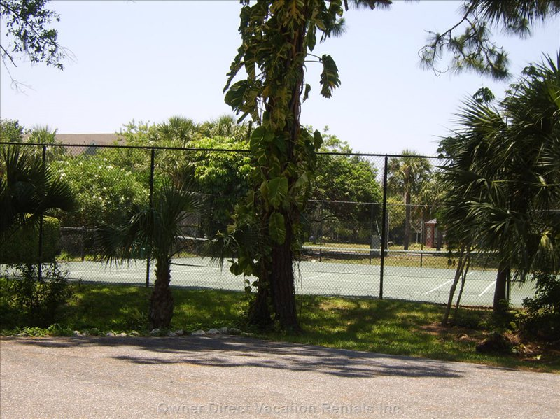 Tennis Court Next to Pool
