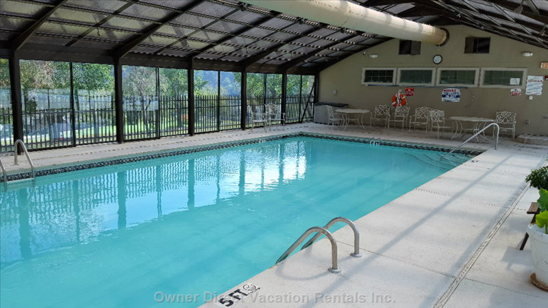 Large Indoor Pool for the Cool Weather Months
