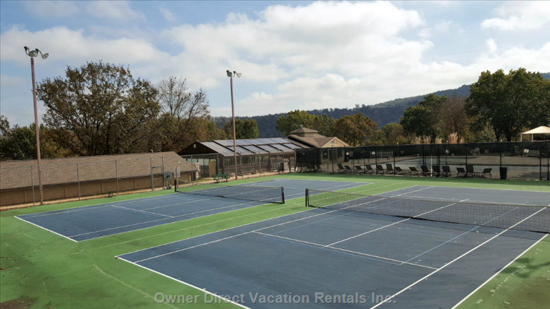 Our Lighted Tennis Courts