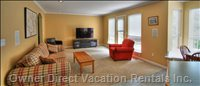 Great Room - Family Room with Large Flat Screen TV.