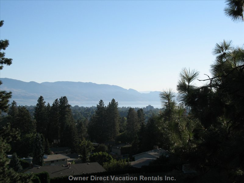 View of Lake Okanagan and City from Living Room