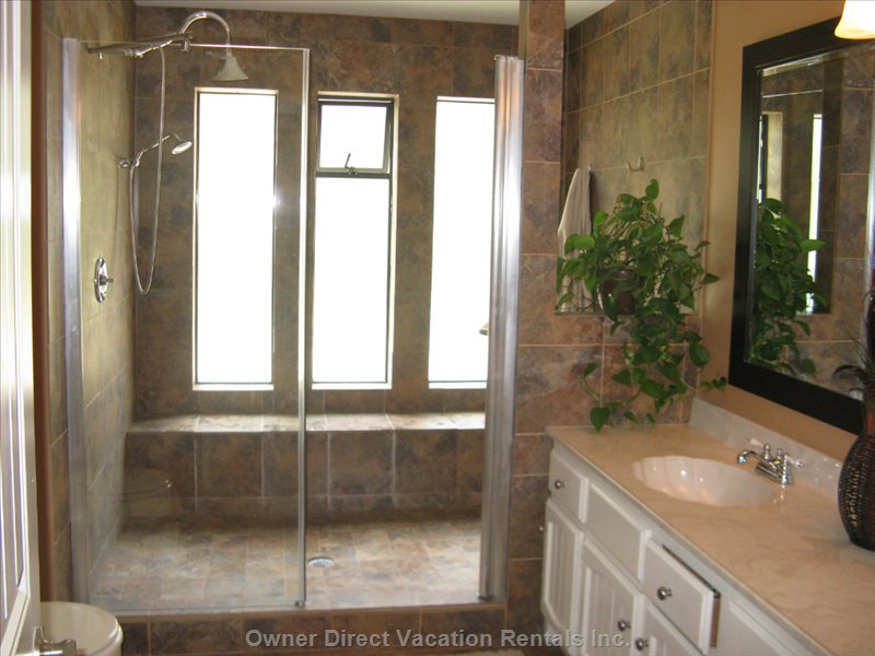All Granite Master Bedroom Ensuite with Walk in Shower