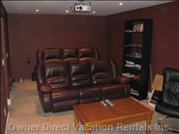 Theatre Room - Complete with a  Huge 102 Inch Screen, Leather Theatre Seating, Surround Sound.  Soundproof Room