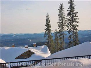 Winter View from the Private Hot Tub Deck