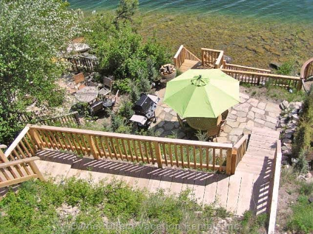Lakefront Patio with Bbq