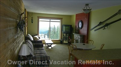 Layout is Open with a Fantastic View of the Monashee Mountains.