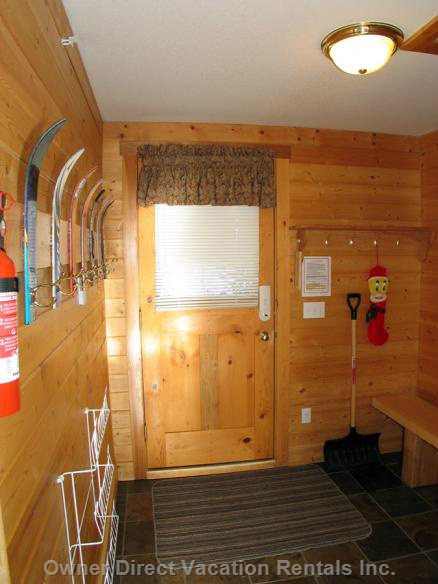 Ski in/out from the Back Door with Mud Room Entry