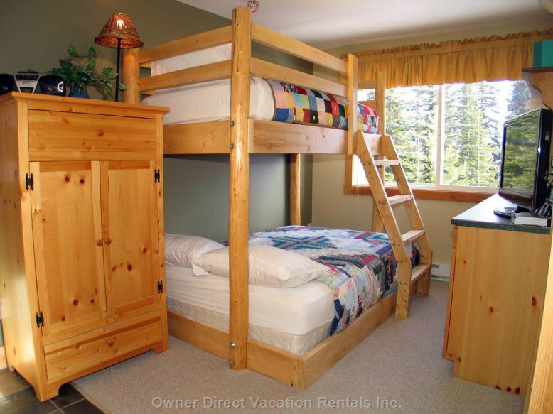 Family Room has a Single over Double Bunk