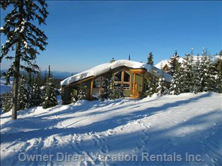 View of the Chalet from the Ski Trails