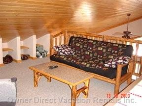 Double Bed Sized Futon in the Loft Area