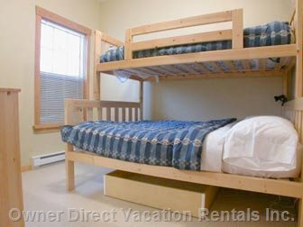 Bedroom with Double and Single Bunk
