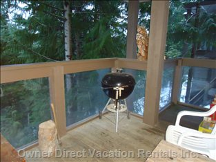 Outside Deck with Weber Bbq
