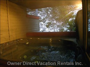 Covered Outdoor Hot Tub, Early Winter