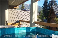 Relax in your Own Private Hot Tub with a Southern Exposure  - and Views of Whistler Mountain.