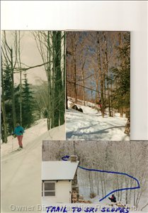 Our Trail to the Slopes! - Walk up the Back of our Property and Ski down to the Main Lift. Ski Home from the Slopes!