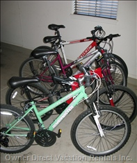 25 Miles of Bicycle Trails to Enjoy Using the 5 Bicycles Available to our Guests