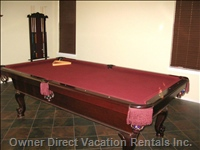 Challenge your Friends to a Game on the Slate Pool Table