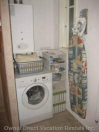 Washing Machine, Ironing Board and Iron and Drying Racks